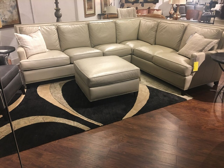 Hickory Park Furniture Outlet Leather Sectional And Ottoman By Han Moore Arrington