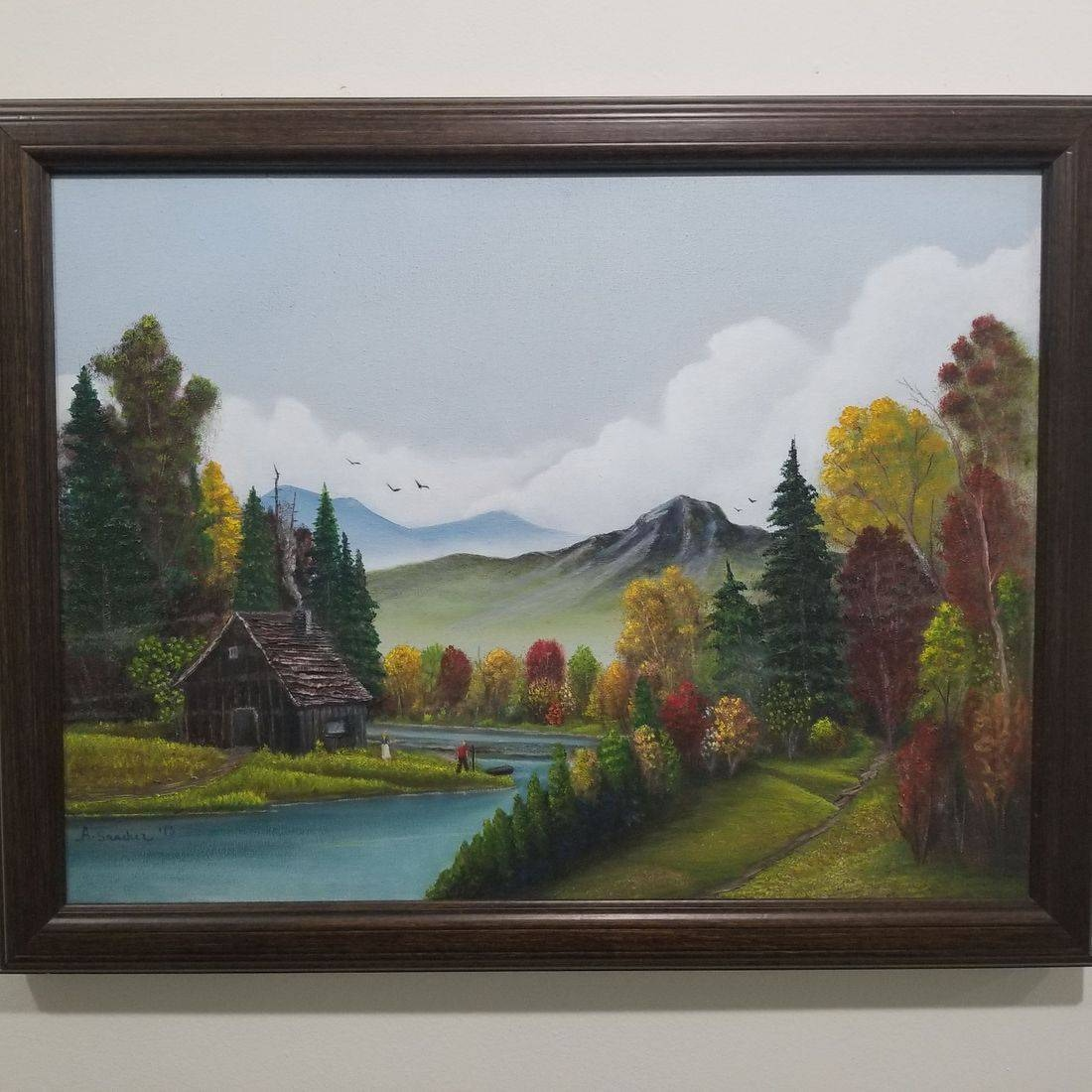 aste Full Arts Gallery Accessories 18x24 Hand Oil Painting by Local Artist (SKU: Autumn Colors)