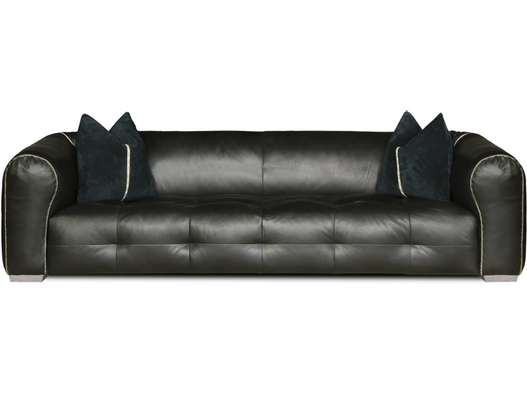 Eleanor Rigby Home Living Room Leather Sofa in Midnight ...