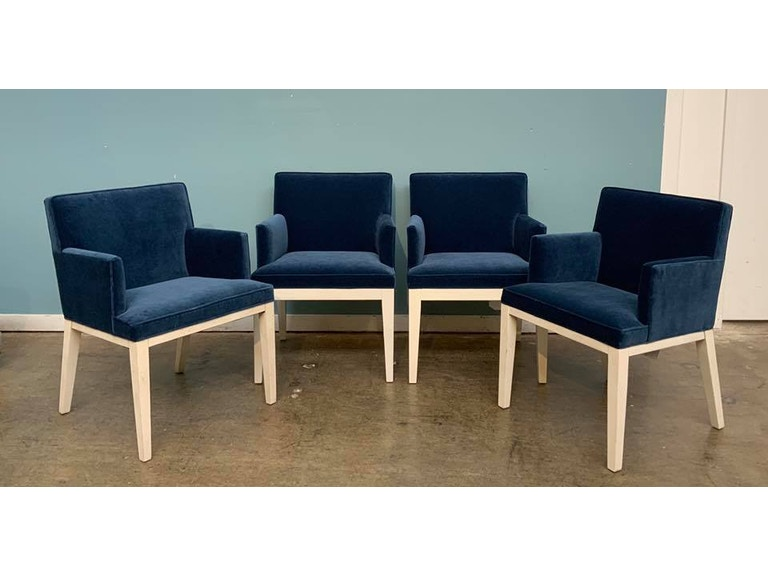 Mitchell Gold Bob Williams Factory Outlet Dining Room Arm Chairs X 4 In Boulevard Deep Blue SKU Cameron Is Available At Hickory Furniture Mart