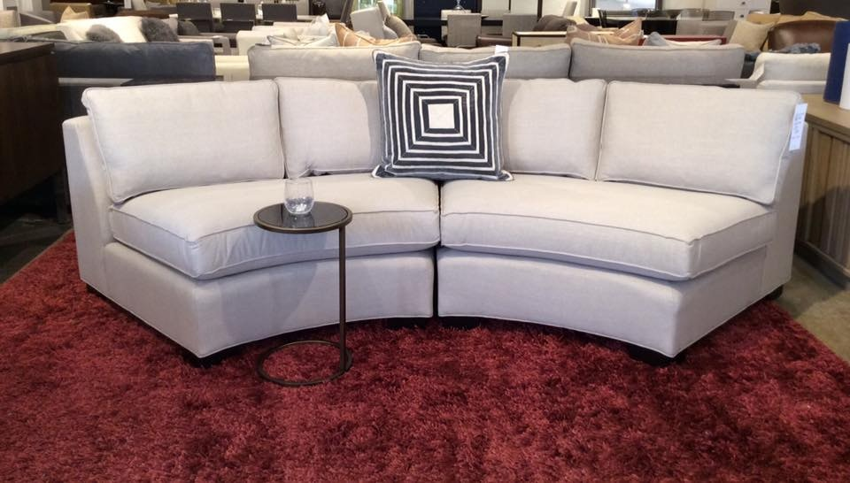 Mitchell Gold + Bob Williams Factory Outlet Living Room Carson 2pc Wedge  Sectional, 111 X 40 In Nuance~Taupe. (SKU: ) Is Available At Hickory  Furniture Mart ...
