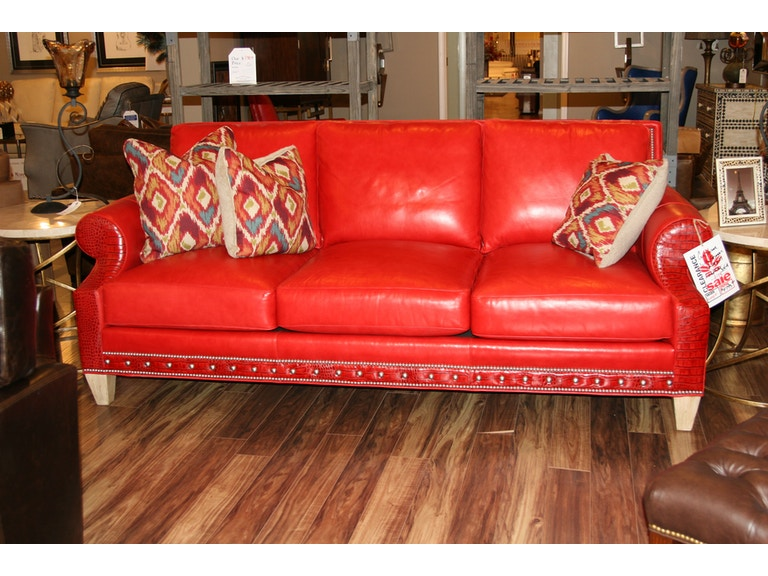 Leather Society By Reflections Sofa Whittemore Sherrill Custom