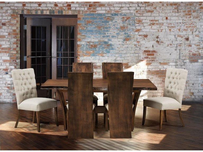 Amish Oak and Cherry Alana Evergreen Dining Group (SKU: Delphi)