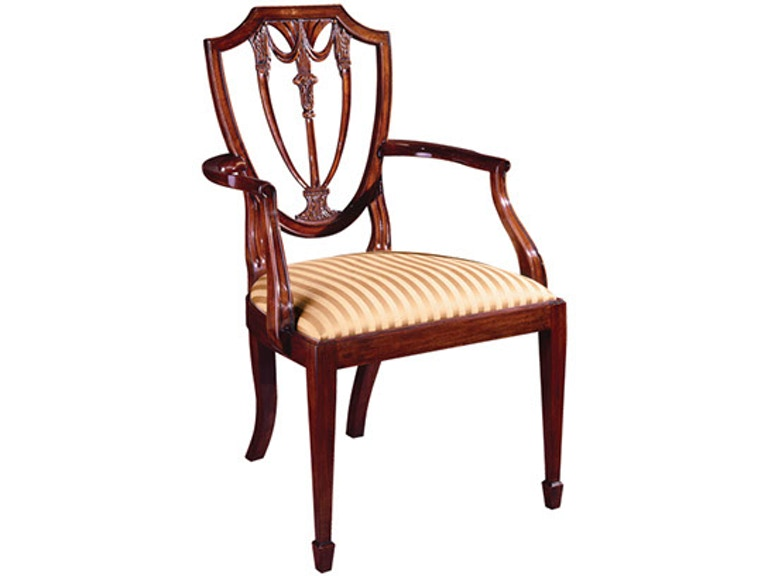 Henkel Harris Furniture Dining Room Shield Back Arm Chair Sku 104a Is Available At Hickory Mart In Nc And Nationwide