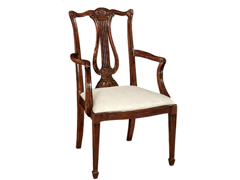 Henkel Harris Furniture Dining Room Lyre Back Arm Chair Sku 118a Is Available At Hickory