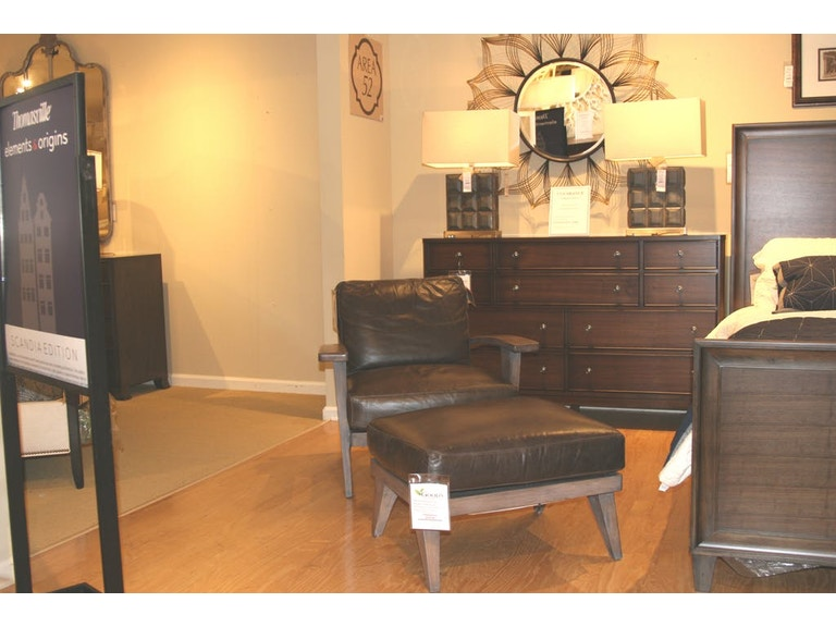 Living Room Ellen Degeneres Hillcrest Leather Chair And Ottoman By