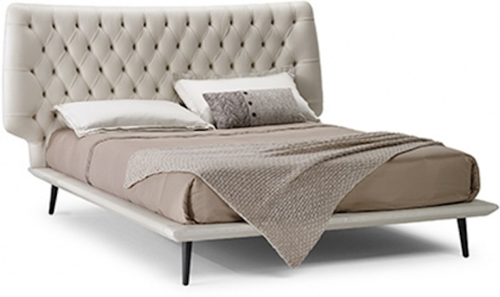 Reflections Furniture Bedroom Dolcevita Tufted Bed By Natuzzi Italia L016 Hickory Furniture Mart