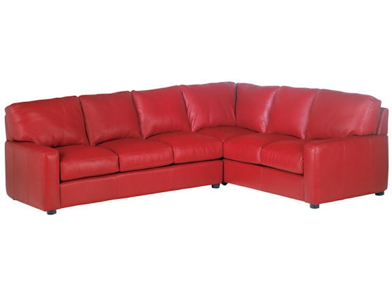 Leather and More Living Room Legacy leather sectional San ...