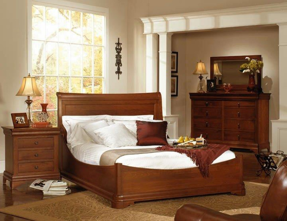 Amish Oak and Cherry Solid Wood Bedroom Group Made in USA ...