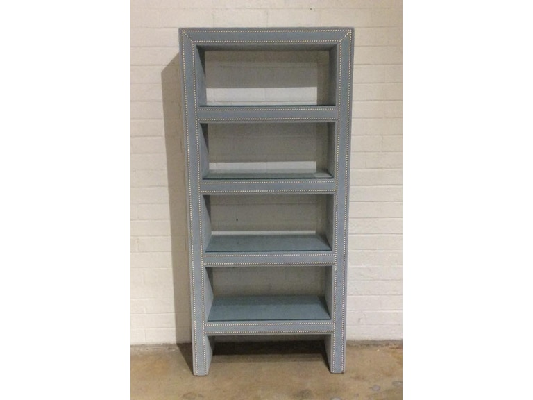 Mitchell Gold Bob Williams Factory Outlet Bookcase In Boulevard Sky Blue 74 5tall 13 5