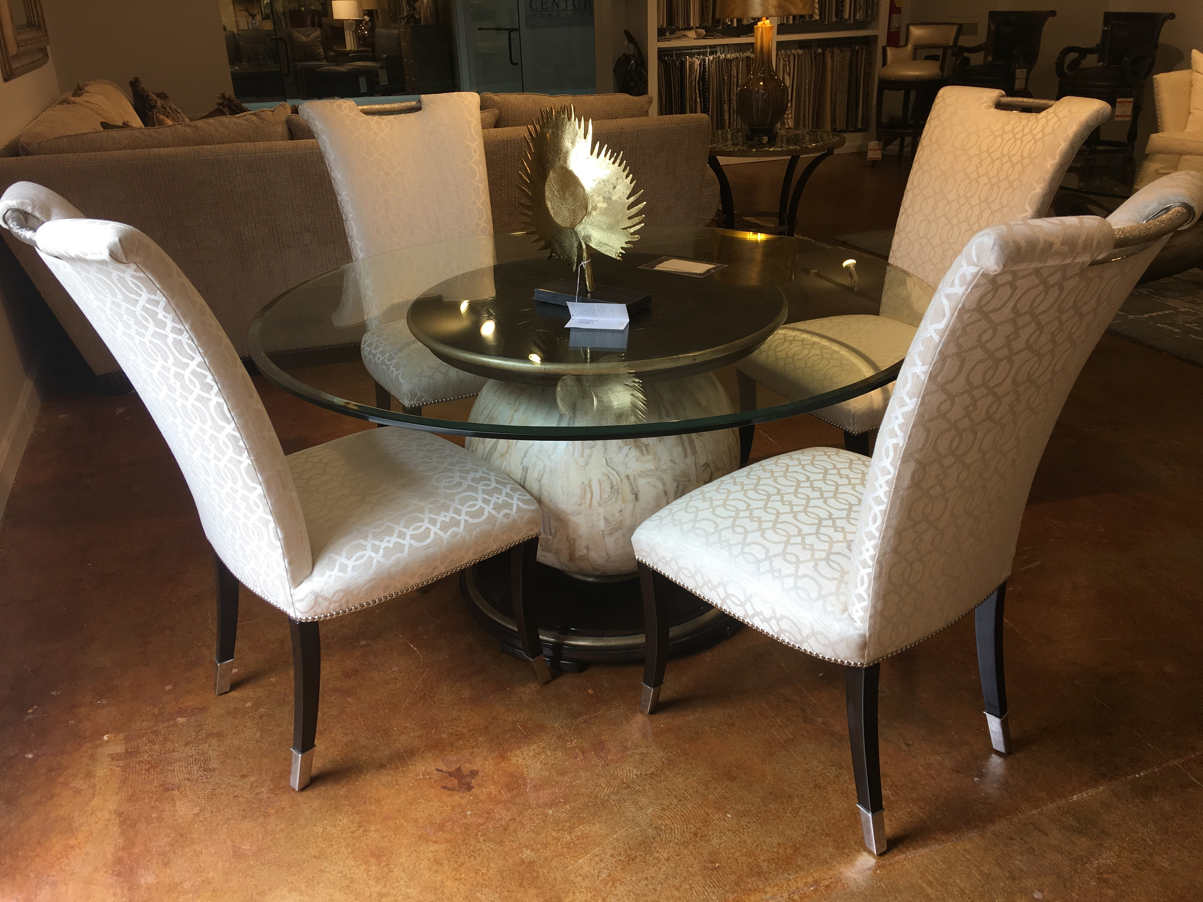 Hickory Park Furniture Outlet Dining Room 60 Inch Round Dining Table With  Chairs By Marge Carson