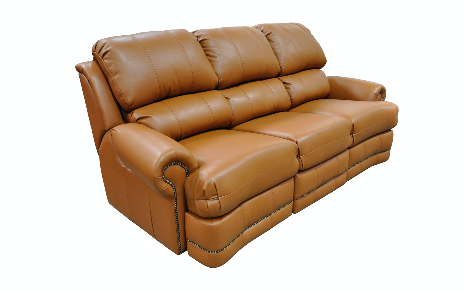 Omnia Leather By Leather And More Omnia Leather Reclining Sofa Morgan
