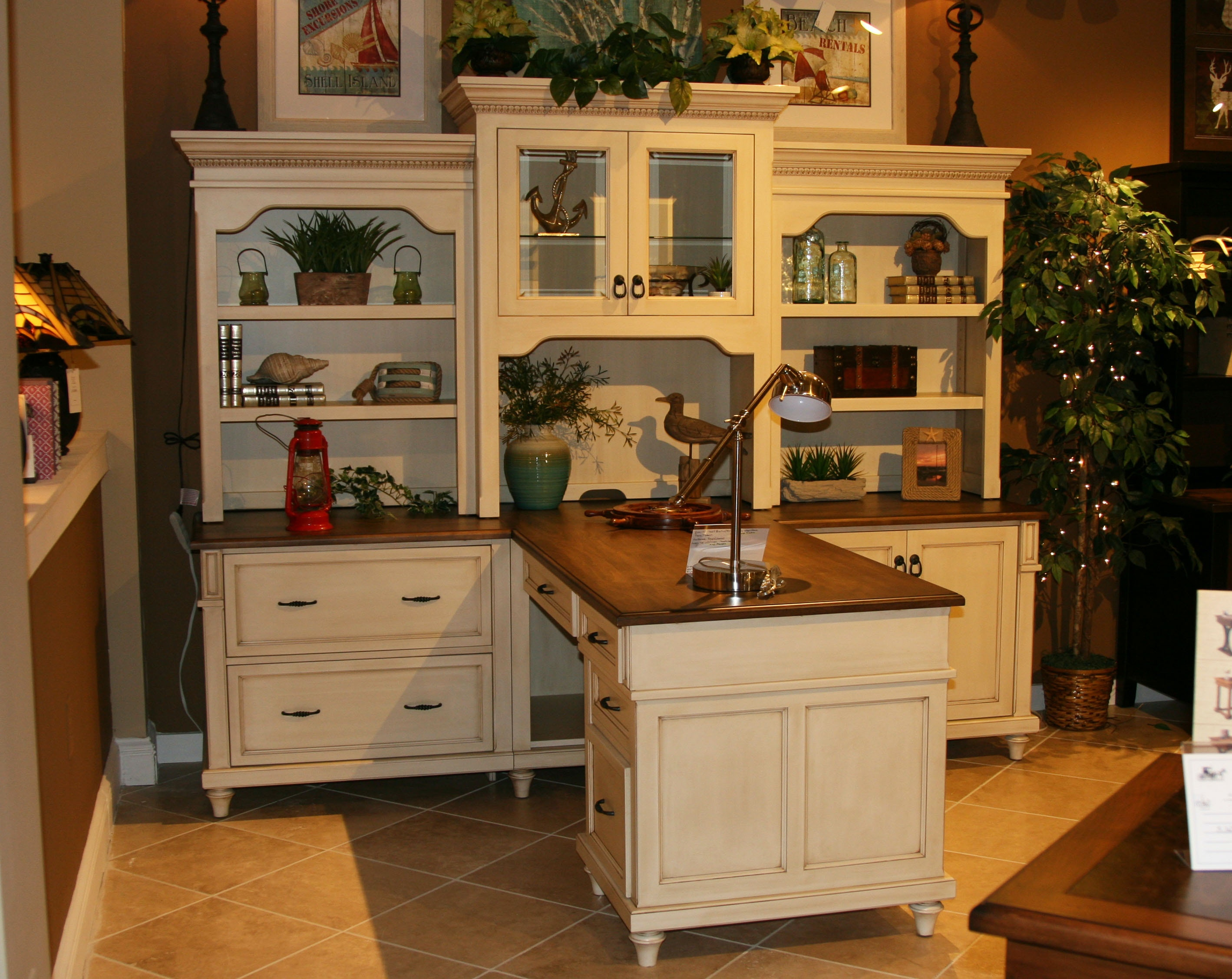 Home Office Bridgepoint Collection By Amish Oak And Cherry (SKU: Partner  Desk) Is Available At Hickory Furniture Mart In Hickory, NC And Nationwide.