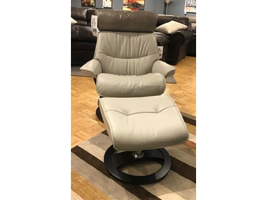Cool Leather And More Living Room Reclining Chair And Ottoman By Omnia Leather Pismo Beach Diamond Artic Creativecarmelina Interior Chair Design Creativecarmelinacom