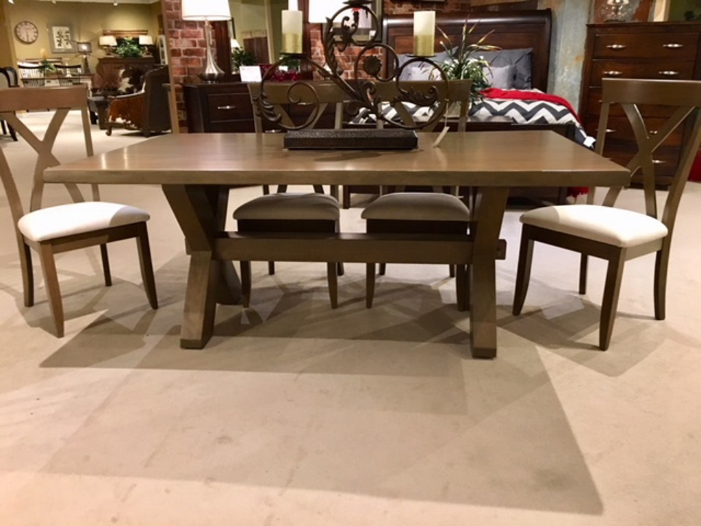 Live Edge 42x72 Dining Table Group Floor Model As Is