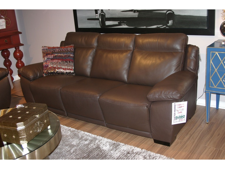 Leather 3 Cushion Reclining Sofa by Natuzzi
