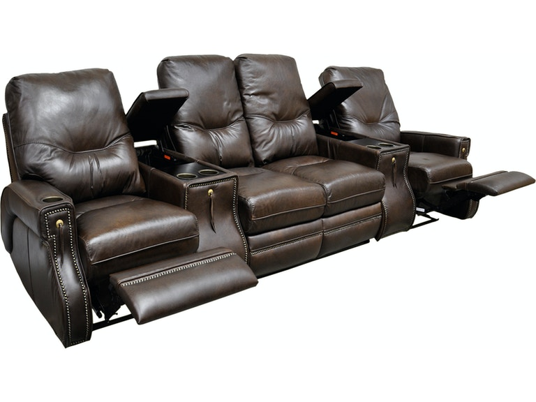 Omnia Leather By And More Motion Sectional Ride