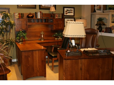 Amish Oak And Cherry Home Office Rustic Executive Desk Riverside