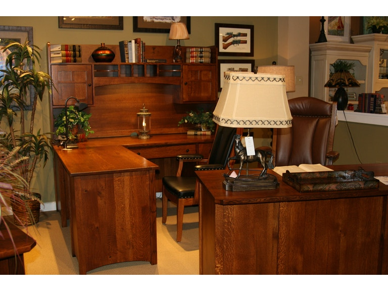 Enjoyable Amish Oak And Cherry Home Office Rustic Executive Desk Download Free Architecture Designs Scobabritishbridgeorg