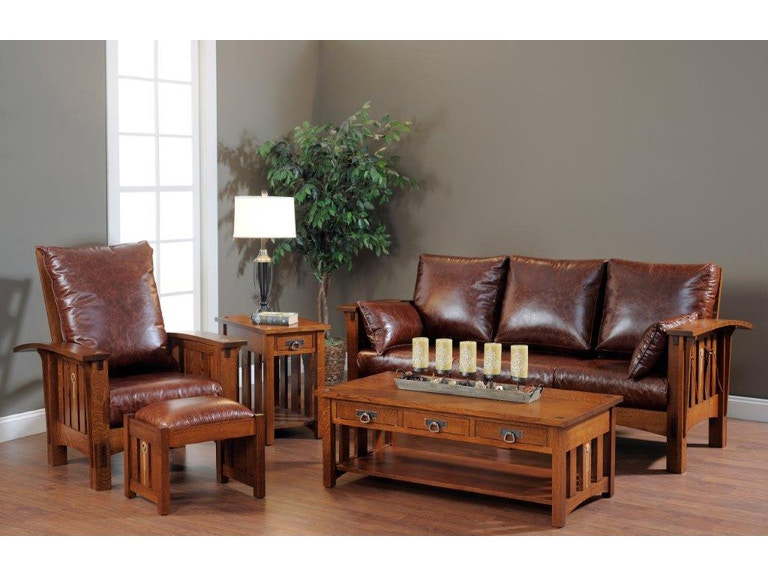 amish oak and cherry living room group made in usa three