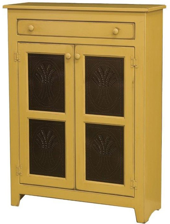 Amish Oak And Cherry Kitchen Large Pie Safe With Tin Doors 204t Hickory Furniture Mart Hickory