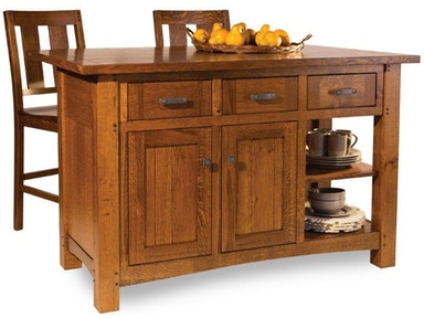 Amish Oak And Cherry Kitchen Islands | Hickory Furniture ...
