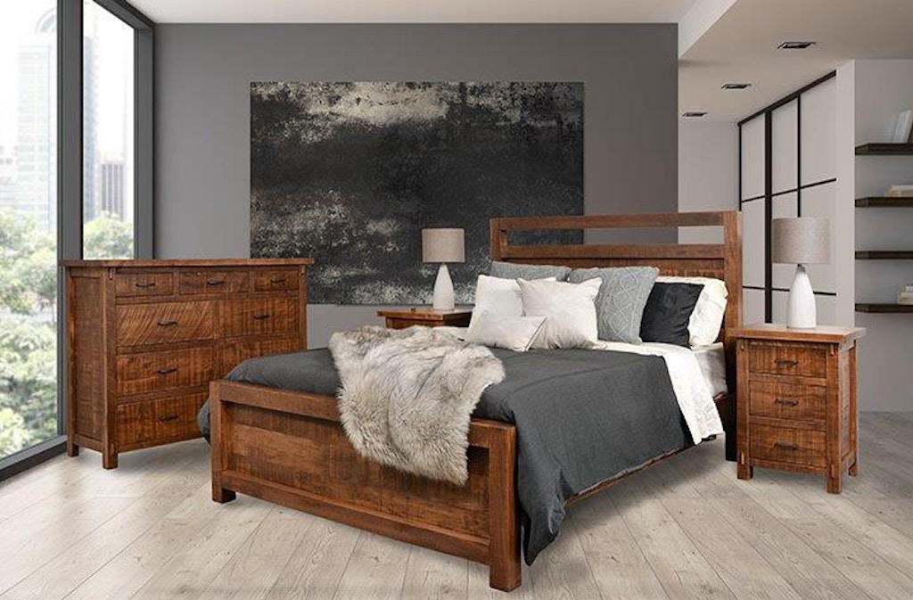Amish Oak And Cherry Solid Wood Bedroom Group Made In Usa Rustic