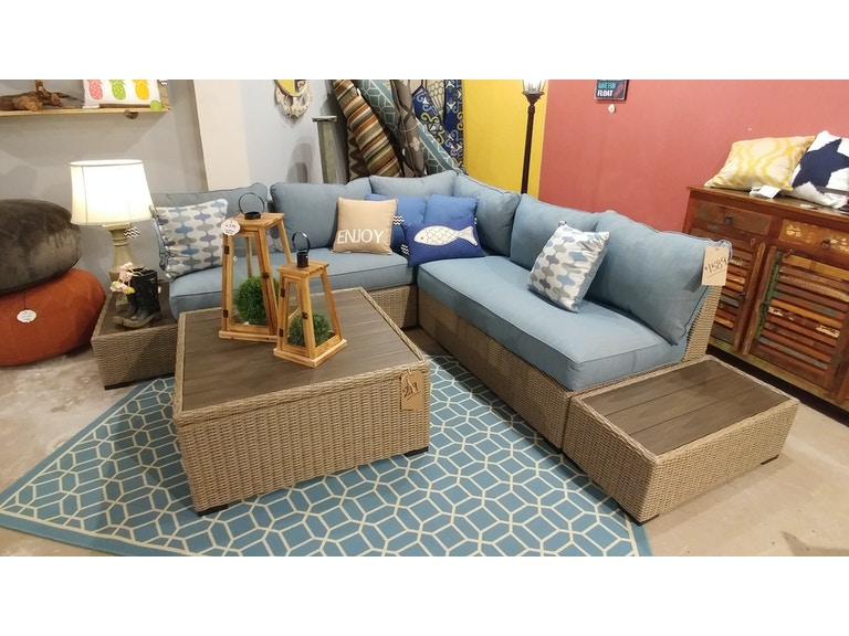 Simply Outdoor Furniture By Lindy S Outdoorpatio Silent Brook Sofa And Loveseat Sectional With End