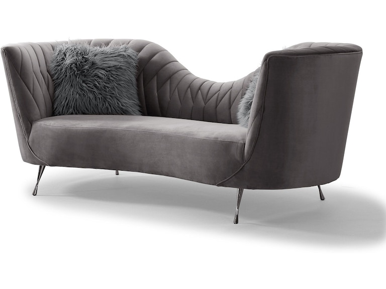 Tov Furniture Living Room Eva Grey Velvet Sofa Tov L6130 Hickory