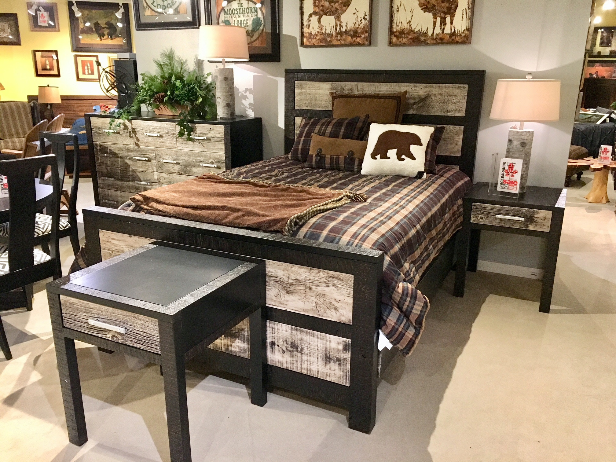 Amish Oak And Cherry Clearance Center Bedroom Group By Green Gables Urban  Graphite