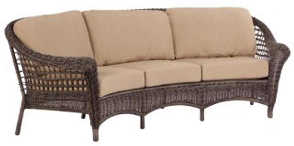 Alfresco Home Patio Furniture.Alfresco Home Bainbridge Bark Crescent Sofa