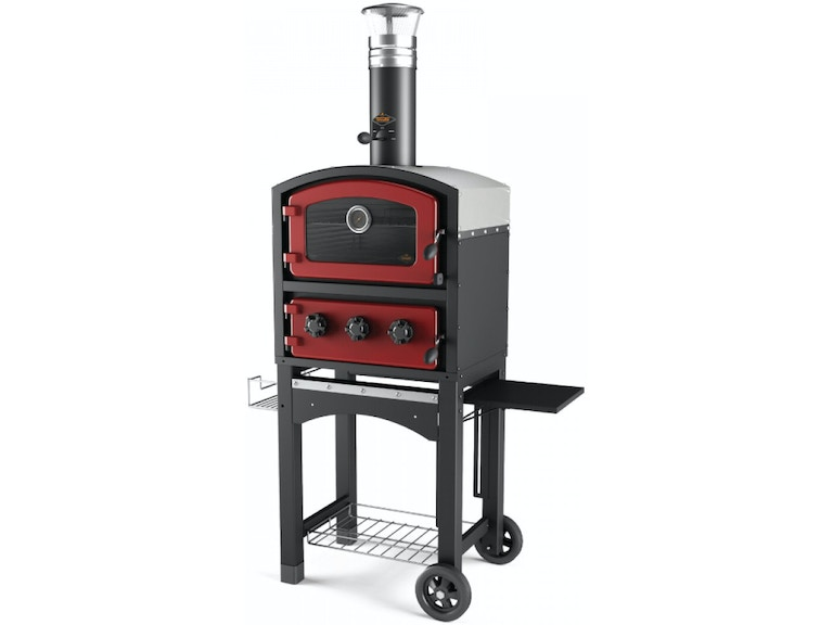 Alfresco Home, Fornetto Wood Fired Oven and Smoker - Red