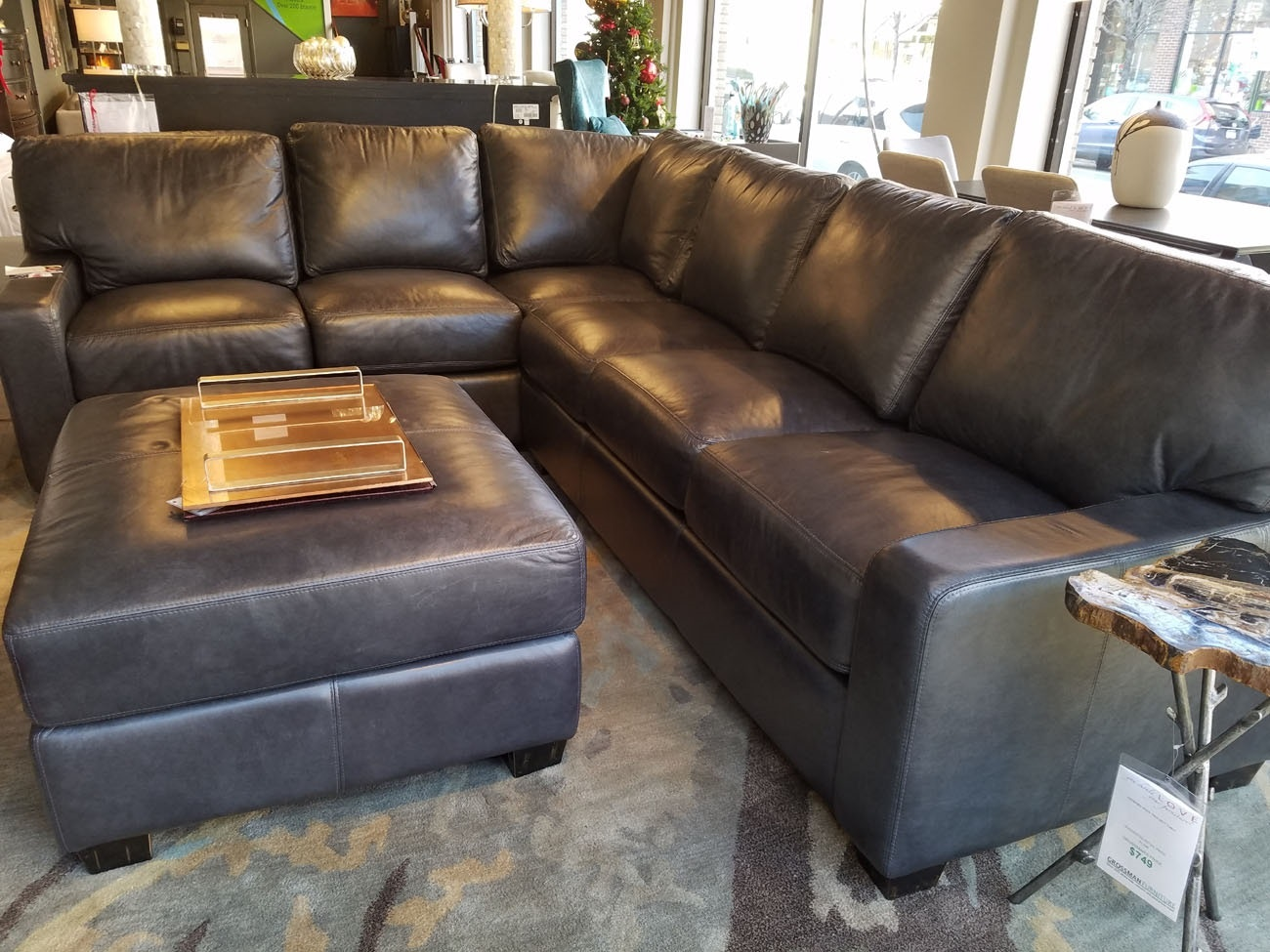 Attirant Omnia Leather Albany Sectional 151327