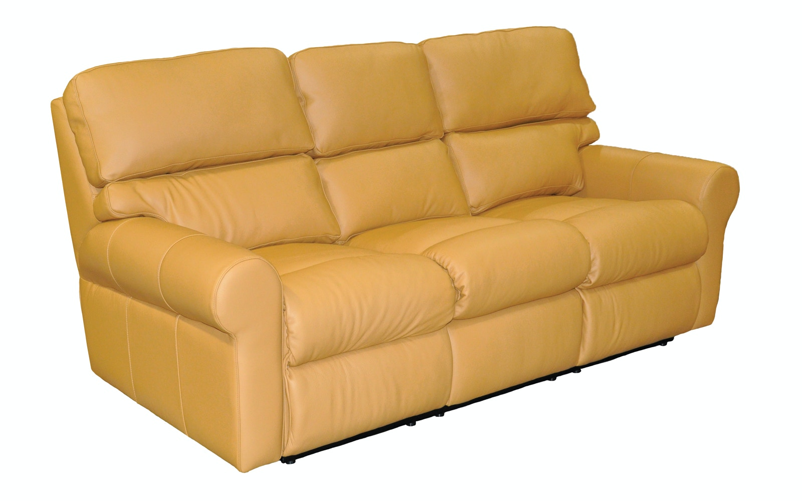 Omnia Leather Brookhaven Reclining Sofa With Chaise Footrest Brookhaven 3C  53111