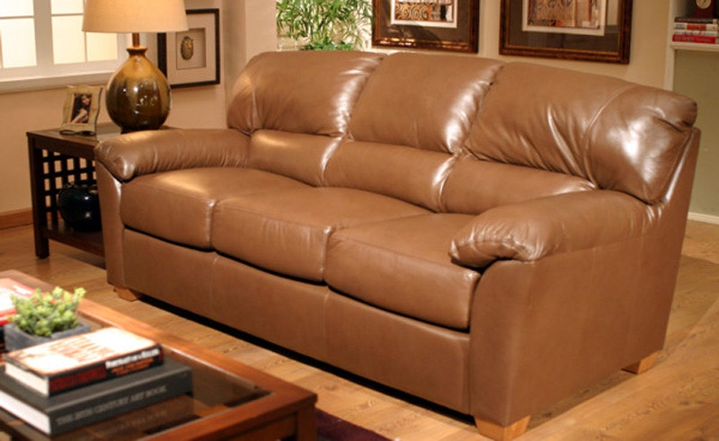 Omnia Leather Cedar Heights 3 Seat Sofa Cedar Heights 3C13001