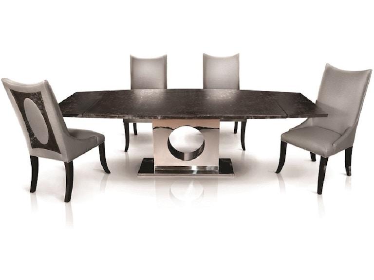 Oios Metals Dining Room 72 Extension Steel Top Table Soro Nightfall At Grossman Furniture