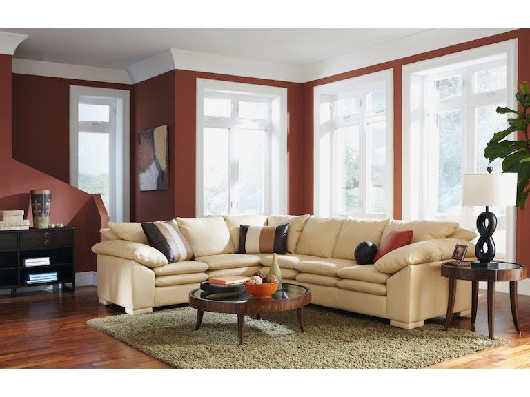 Omnia Leather Contemporary Sofa Fargo