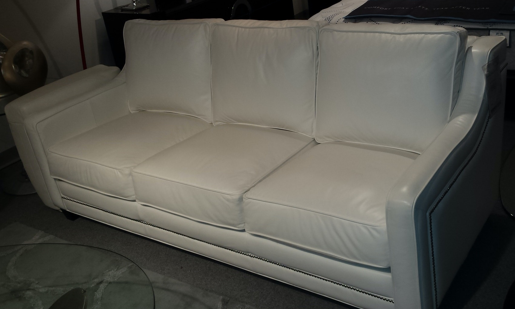 Omnia Leather 3 Seat Leather Sofa Fifth Avenue 3C SOFA 13001