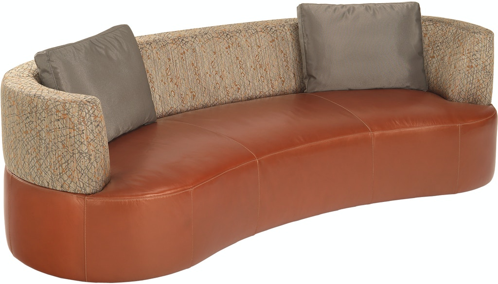 Lazar Living Room Gemini Curved Sofa With Boxed Back Pillows 124320 At Grossman Furniture