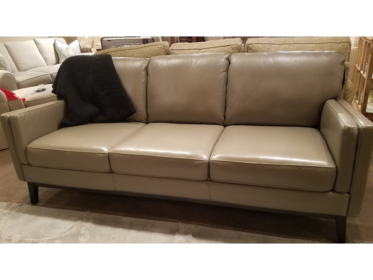 Moroni Leather Italian Designed Sofa 352