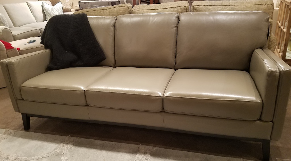Italian designed leather sofa