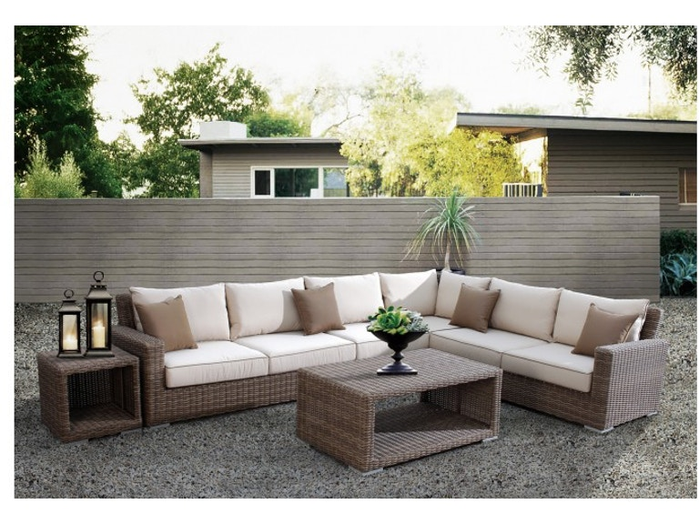 Sunset West Outdoor Patio Coronado Collection Sectional At Zing Casual Living