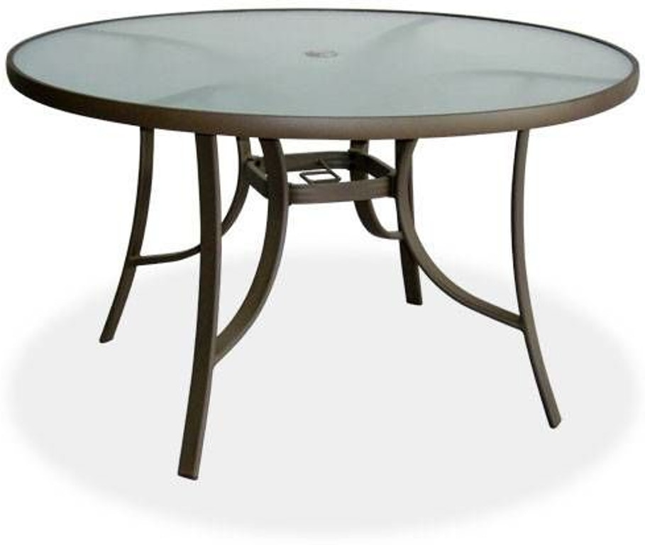 wholesale dealer 54c70 99032 Hideaway Mocha Aluminum 48 in.Round Glass top Dining Table