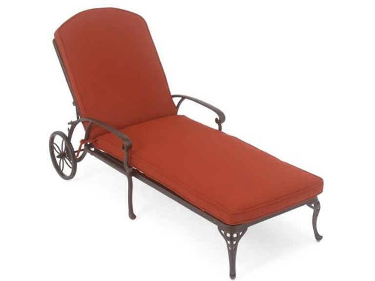 Outdoor Patio San Remo Chaise Lounge With Wheels 1864819