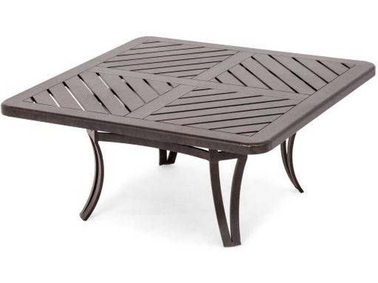 Eclipse 42 Square Cast Slat Top Coffee Table