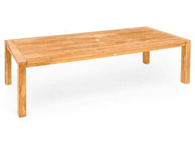118 X 43 Rectangular Solid Reclaimed Teak Dining Table