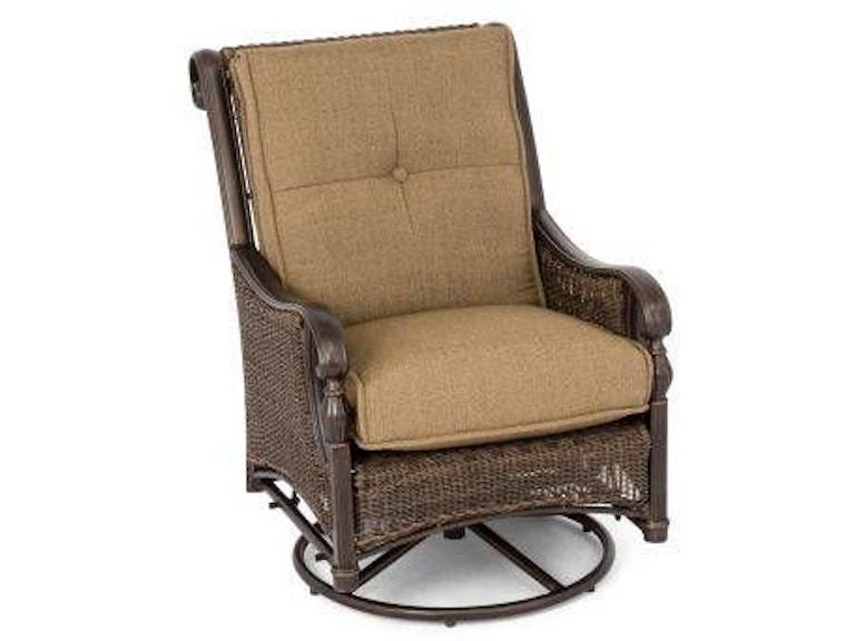 Astounding Barcelona Black Gold Aluminum And Woven Outdoor Wicker Club Swivel Glider Chair Machost Co Dining Chair Design Ideas Machostcouk