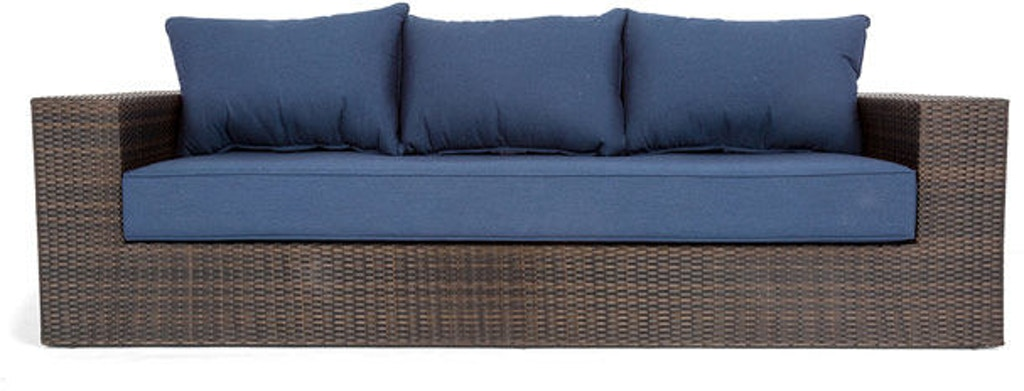 Outdoor Patio Havana Resin Wicker Cushioned Sofa 5146461