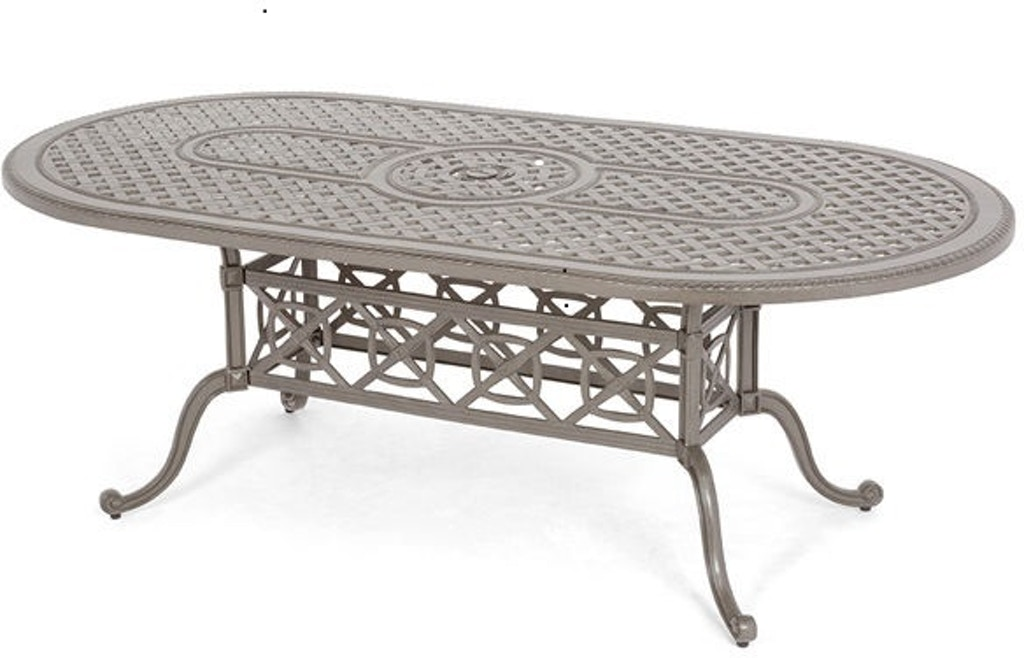 Florence 86x42 Oval Cast Top Dining Table 5183141