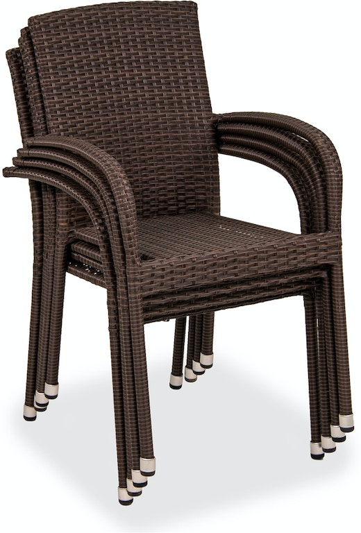 Coffee Steel And Outdoor Wicker